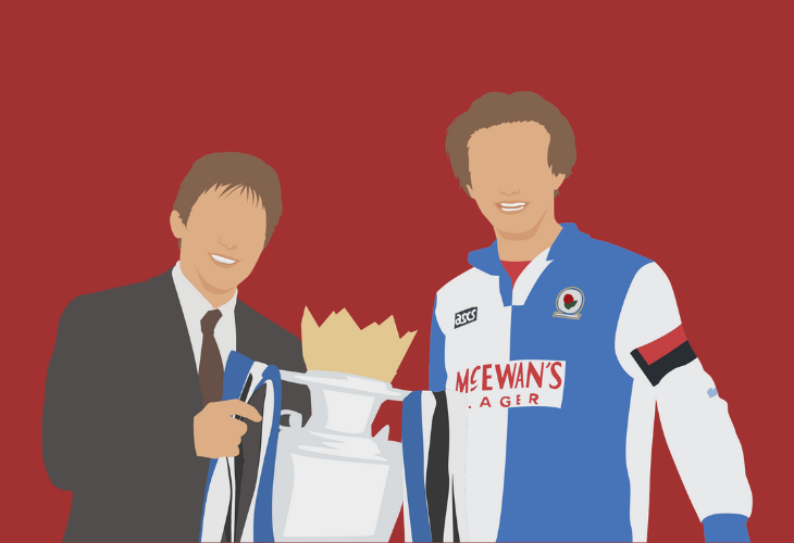 sherwood and dalglish celebrate premier league win with blackburn rovers
