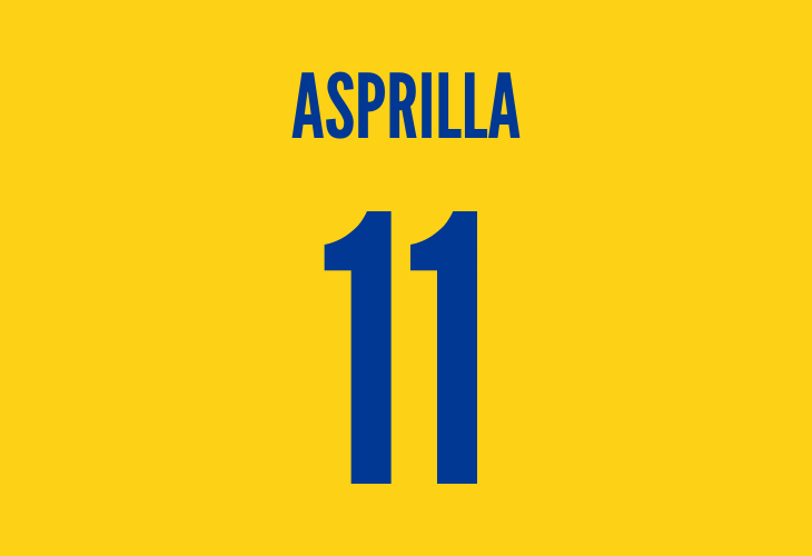 colombian striker asprilla