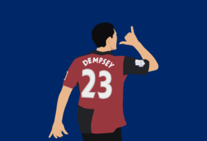 clint Dempsey scores a goal in the eel
